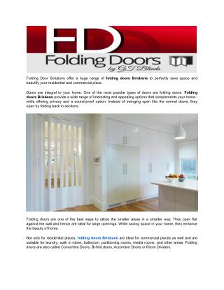 Lotus Timberline Folding Doors