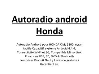 Autoradio android Honda