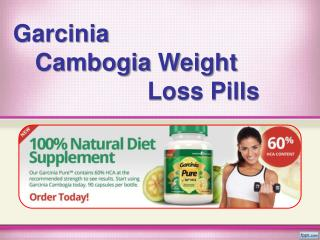 Garcinia Cambogia Pills