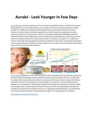 Auralei Serum - Get Best Ever Younger Face