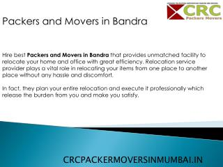 Packers and Movers In Bandra