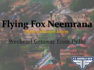 Flying Fox Neemrana Fort Palace | Places to Visit Near Delhi | Weekend Getaways From Delhi