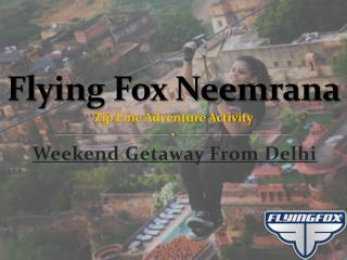 Flying Fox Neemrana Fort Palace