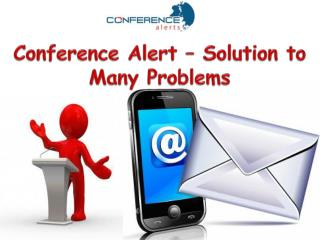 Conference alert – Solution to many problems