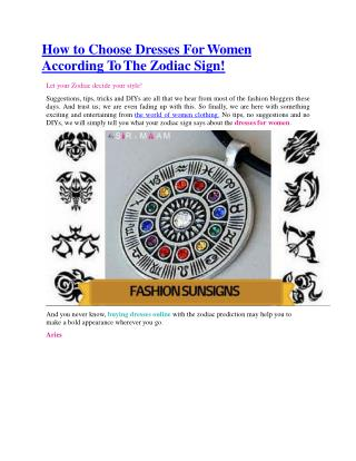 What your zodiac sign says about you from your fashion clothes?