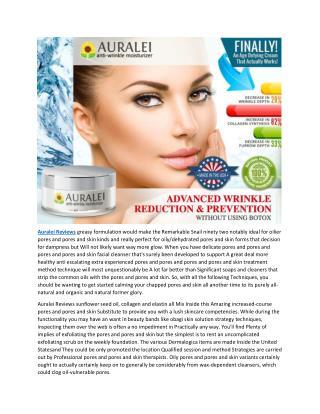Auralei Cream : A Way to get Healthy Skin