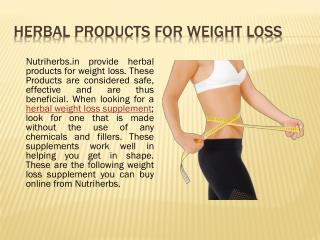 Herbal Products for Weight Loss