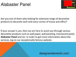 Alabaster Panel