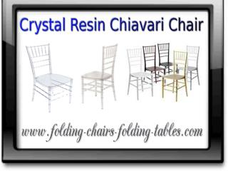 Crystal Resin Chiavari Chair - Larry Hoffman Chair