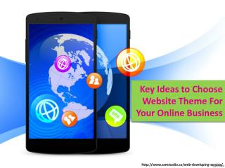 Key Ideas to choose website theme for your online business