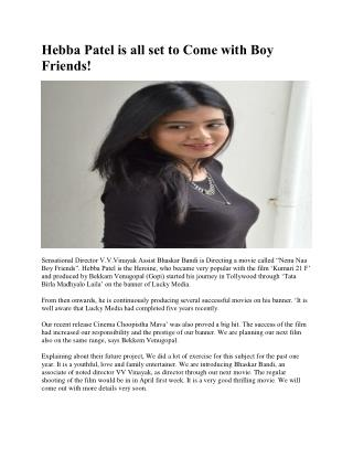 Hebba Patel is all set to Come with Boy Friends!