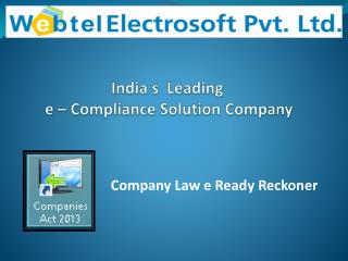 Company Law 'e' Ready Reckoner