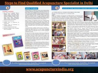 Steps to Find Qualified Acupuncture Specialist in Delhi