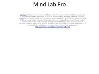 Mind Lab Pro  monnieri is a ancient Ayurvedic herbal brain supplement