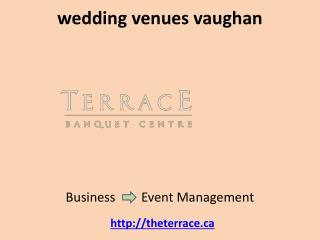 Vaughan banquet hall Vaughan wedding venues