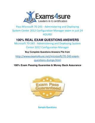 70-243 Exam Questions