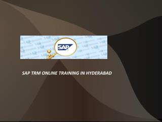 Sap trm online training in hyderabad
