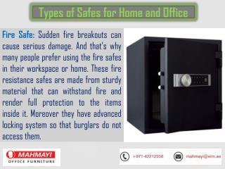 Mahmayi Office Furniture - Electronic and Digital Safes