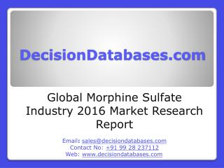Global Morphine Sulfate Market Forecasts to 2021