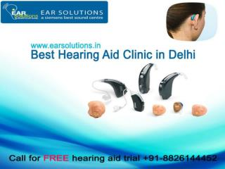 Hearing aid dealers delhi - EAR Solutions