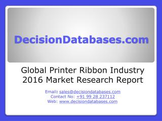 Global Printer Ribbon Industry Share and 2021 Forecasts Analysis