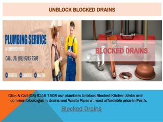 Unblock Blocked Drains