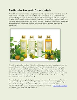 Buy Herbal and Ayurvedic Products in Delhi