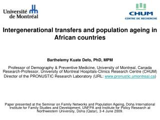 Intergenerational transfers and population ageing in African countries