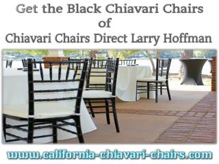 Get the Black Chiavari Chairs of Chiavari Chairs Direct Larry Hoffman