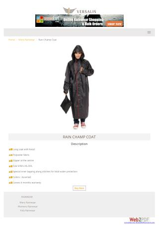 Buy Raincoat Online