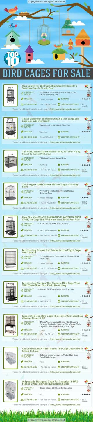 Top 10 Bird Cages For Sale