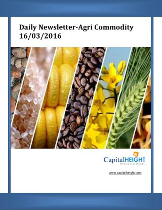 Today Stock News Live Tips with Daily Agri Market Newsletter