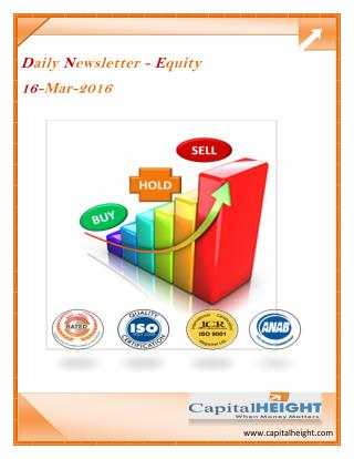 Today Stock Tips with Daily Equity Market Newsletter by CapitalHeight