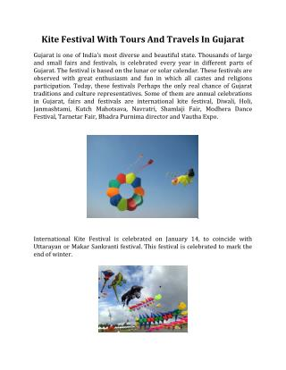 Kite Festival With Tours And Travels In Gujarat