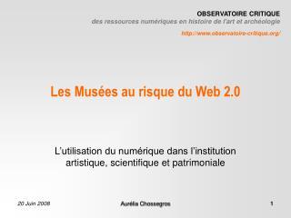 Les Mus es au risque du Web 2.0
