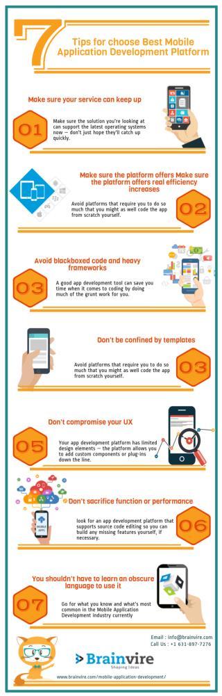 Tips for choose Best Mobile Application Development Platform