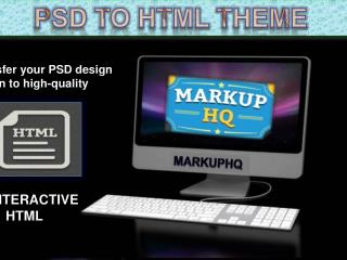 PSD to HTML Theme