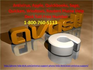 Avast AntiVirus Helpline- 1-800-760-5113