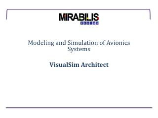 Avionics presentation