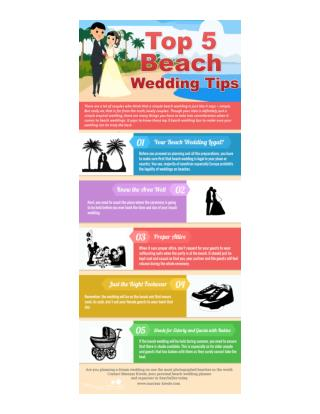 Top 5 Beach Wedding Tips