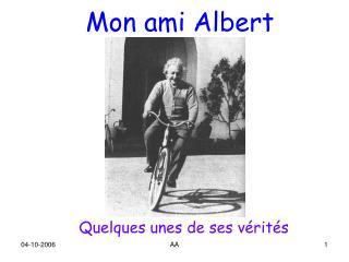 Mon ami Albert