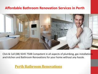 Perth Bathroom Renovations