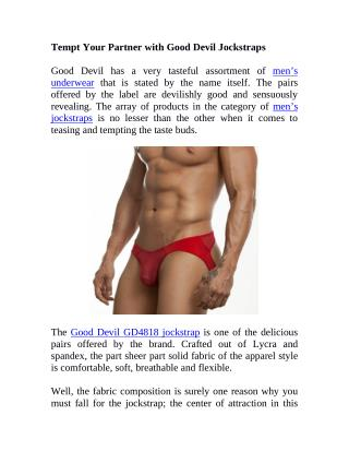 Tempt Your Partner with Good Devil Jockstraps