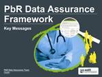 PbR Data Assurance Framework