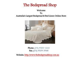Buy Best Quality Bedspreads Online at Discounted Rates
