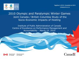 2010 Olympic and Paralympic Winter Games  Joint Canada