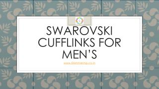 Swarovski Mens Fashion Jewelry