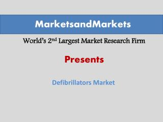 Defibrillators Market worth $12.9 Billion by 2019