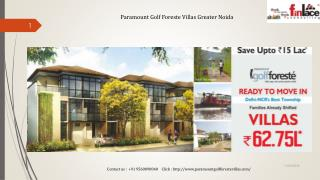 Paramount Golf Foreste Villas Greater Noida
