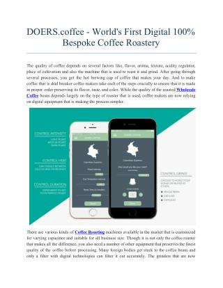 DOERS.coffee - Worlds First Digital 100 Bespoke Coffee Roastery.pdf